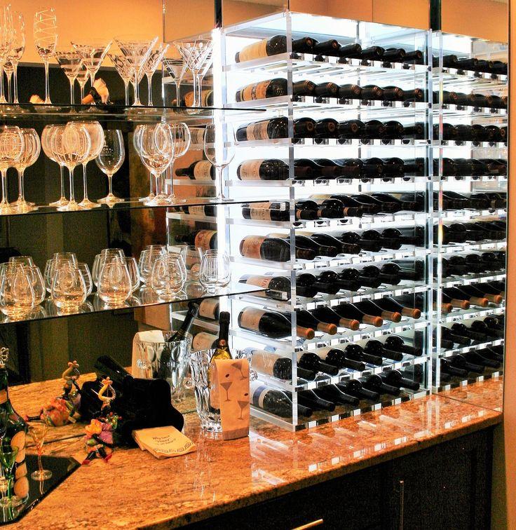 Luma 60 LED Acrylic Wine Rack