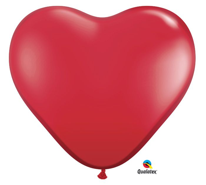 We're in LOVE with these 3 Foot Heart-shape Latex Balloons! #burtonandburton