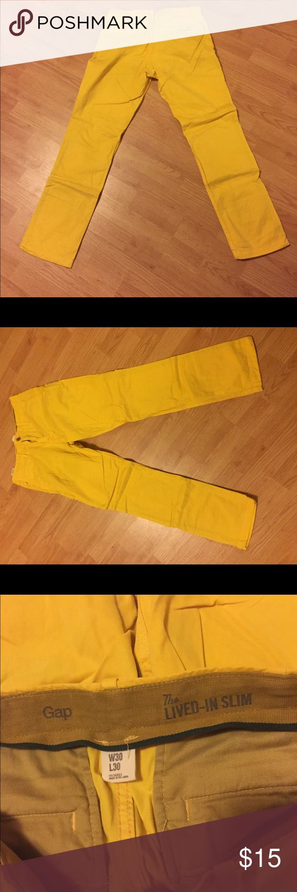 GAP Lived in slim fit Khakis Gap lived in slim fit Khakis. Only worn once. Add some color to your wardrobe and some color to your being. In great condition. Size 30/30 GAP Pants Chinos & Khakis