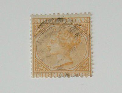 Stamp Pickers Bermuda 1873 Classic Queen Victoria 3d Scott #3 VFU $80+