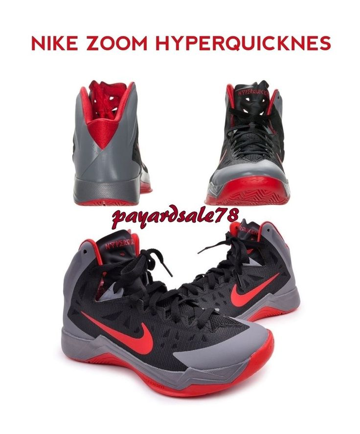 NEW MEN'S NIKE BASKETBALL SHOES SNEAKERS HYPER QUICKNESS ZOOM HIGH TOPS  SIZE 13 #Nike #