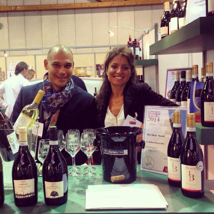 ...Andrea and Sara at Megavino Fair , Bruxelles 2014