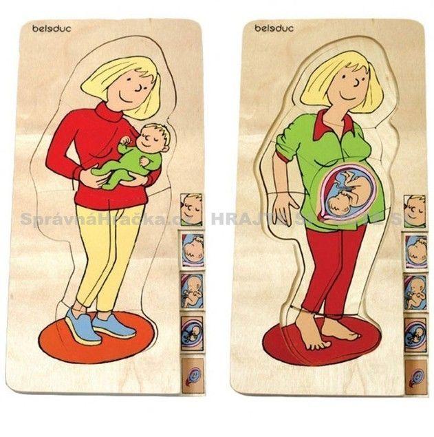 Maminka - vrstvené puzzle vývoj miminka v těhotenství