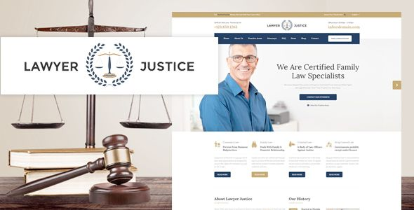 Lawyer Justice - Law Firm Joomla Template