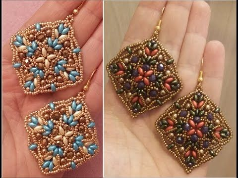 Tutorial orecchini Oriente - (DIY - Oriente Earrings) - YouTube