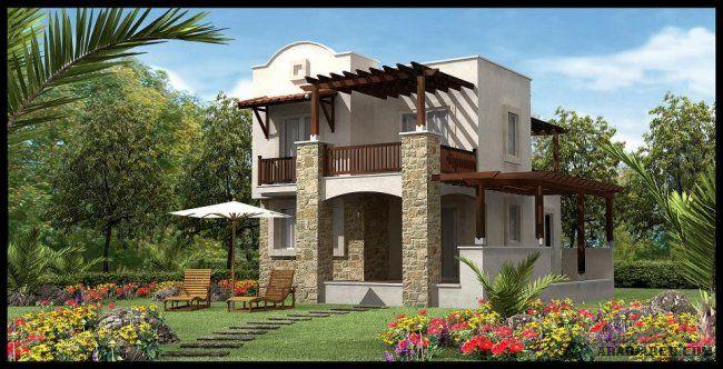 خرائط فيلا صغيرة المساحه بمخطط رائع House Styles House Design House