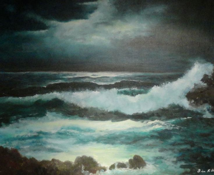 marine painting oil Cushendall Northern Ireland briankillinart