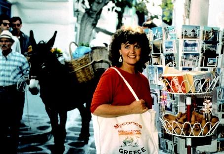 Shirley Valentine in Mykonos.