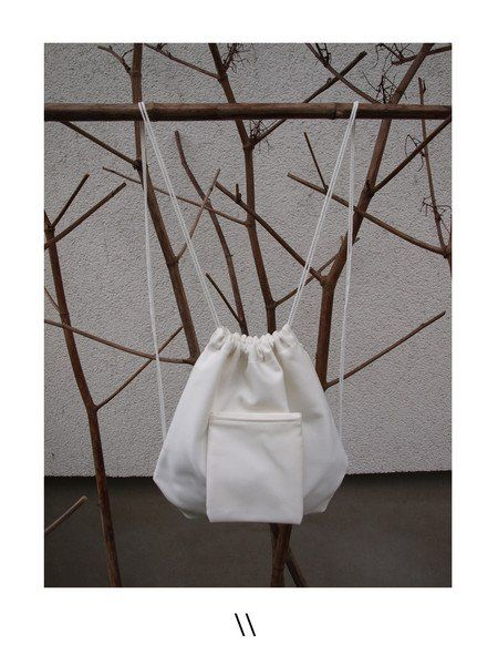 SMALL BACKPACK Made by supporting local ethical production in Polad. /ONLINE SHOP/ http://pl.dawanda.com/product/100732831-mini-plecak-bialy