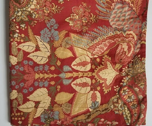 Pottery Barn Clara Paisley Red Floral Birds Chinoiserie Standard Pillow Sham #PotteryBarn #Chinoiserie