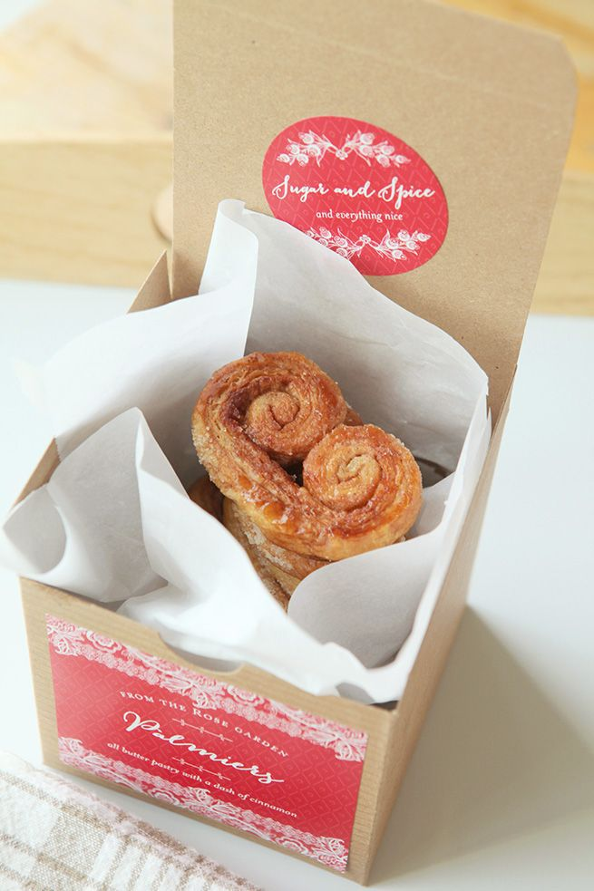 Cinnamon Palmiers Recipe #homemade #dessert #cookies -- SHOP Lucky in Lace labels: http://www.evermine.com/anytime_labels/LK-12/