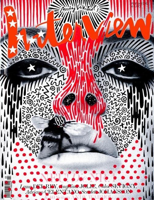 Magazine, cover, black+white+red, design
