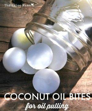 Coconut Oil Bites for Oil Pulling