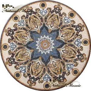 "80"" MARBLE MOSAIC MEDALLION STONE FLOOR WALL TABLE TILE | eBay"