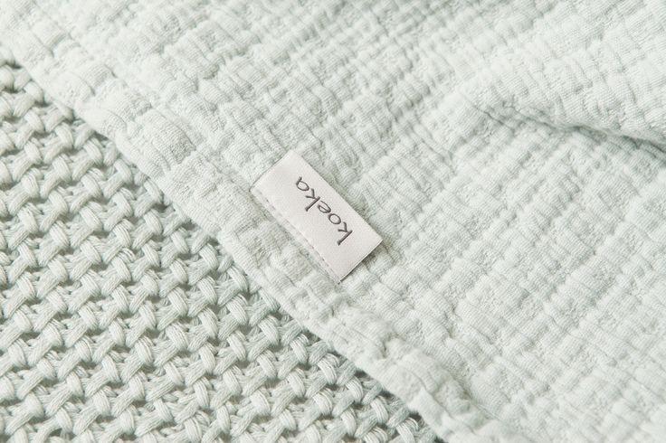 Minty mint! Elba & Belize blankets | Koeka