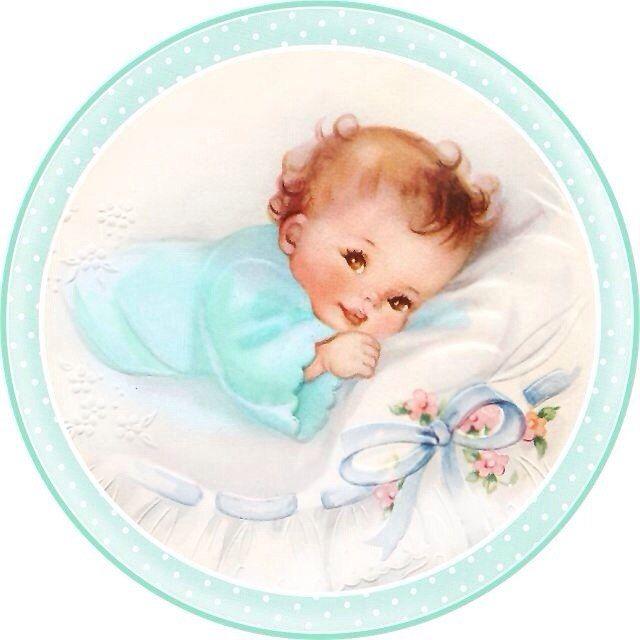 Младенец новорожденный открытка