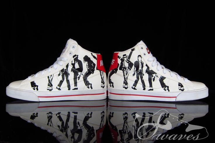 "Michael Jackson ""Smooth Criminal Classics"" Custom Nike Shoes by Swaves, I so need these in my life, probably would have them just to look at lol."