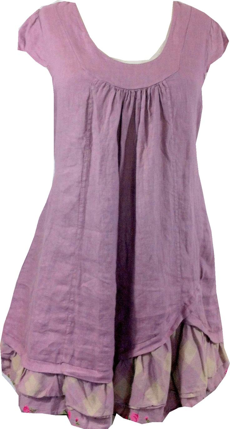 Robe ou tunique en lin, modèle Lucinda, Talia Benson, kalimbaka