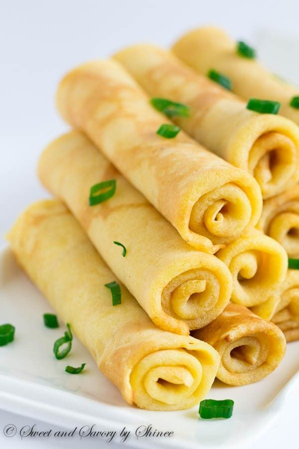 Savory Cheese Crepes - Delicate and savory, these cheese crepes, made with extra sharp cheddar cheese, will be your favorite alternative to sweet crepes.
