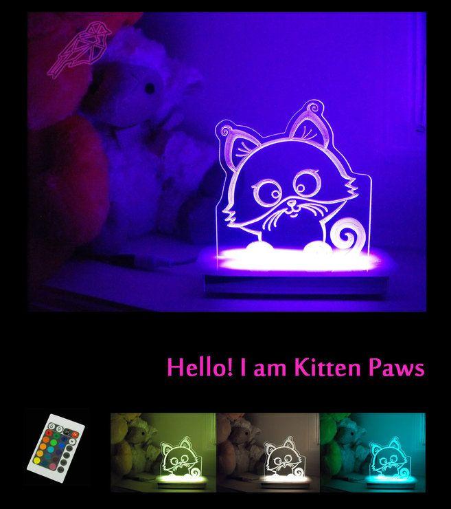 Kitten Paws Night Light by Illuminate Creations