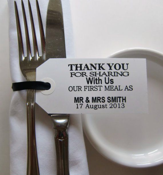 Personalised napkin-holders - see more ideas at http://themerrybride.org/2014/09/06/ideas-for-personalising-your-wedding/