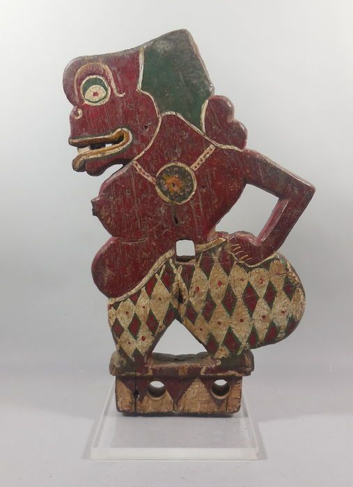 Catawiki online auction house: Bagong, wooden ornament on base – Java – Indonesia