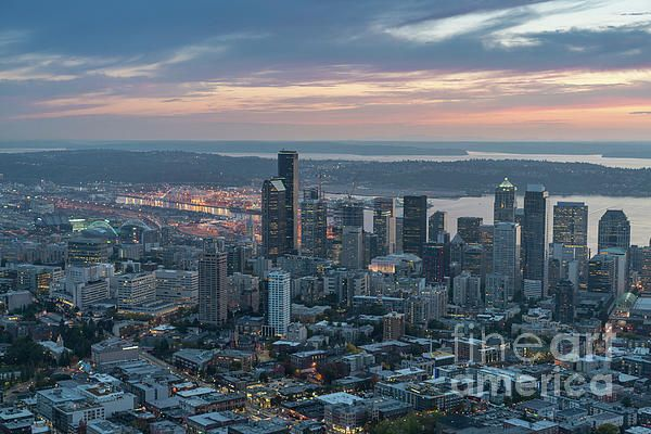 Over Seattle Aerial Photography by Mike Reid