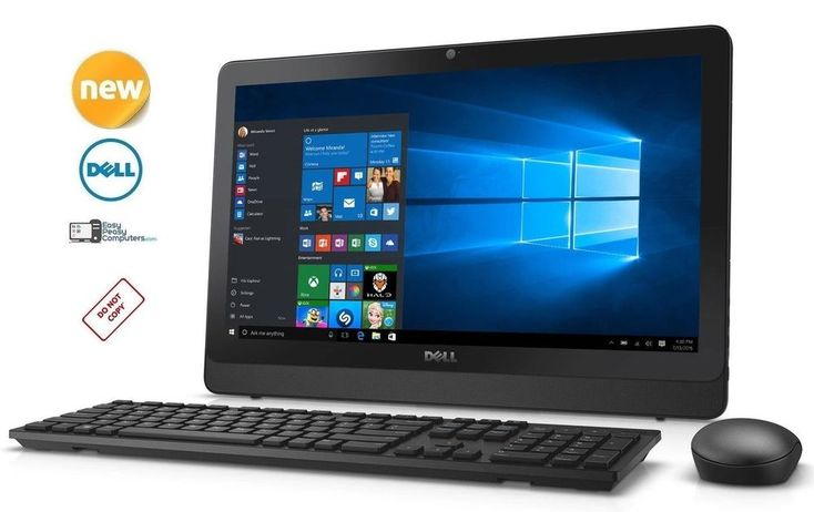 """BRAND NEW DELL Desktop Computer All in One 19.5"""" Windows 10 WiFi (FULLY LOADED) #Dell #computer"""