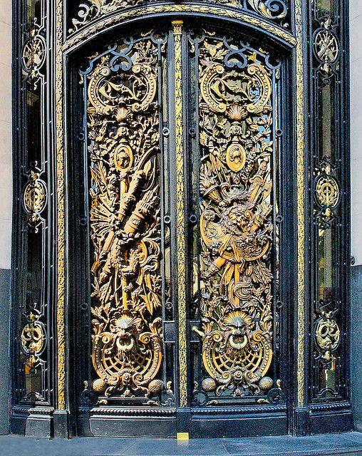 Bronze Door by Ricardo Bevilaqua, via Flickr ~ Argentina, Buenos Aires, Centro Naval, 1914