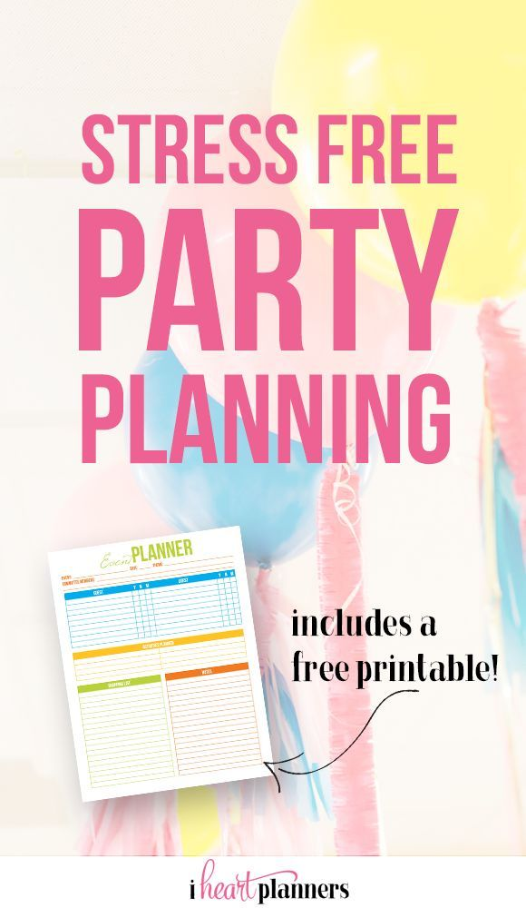 194 best Free Birthday Party Printables images on Pinterest Free - free party planner template