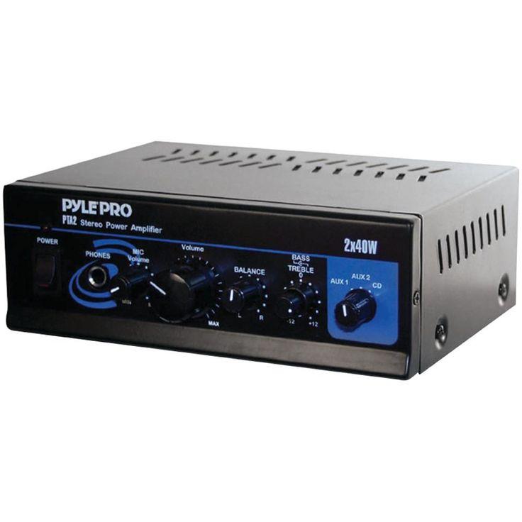 Pyle Pro Mini Stereo Power Amp (40w X 2)