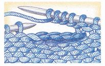 Buttonholes..... all styles illustrated with description from Vogue Knitting ~ this one, two-row buttonhole