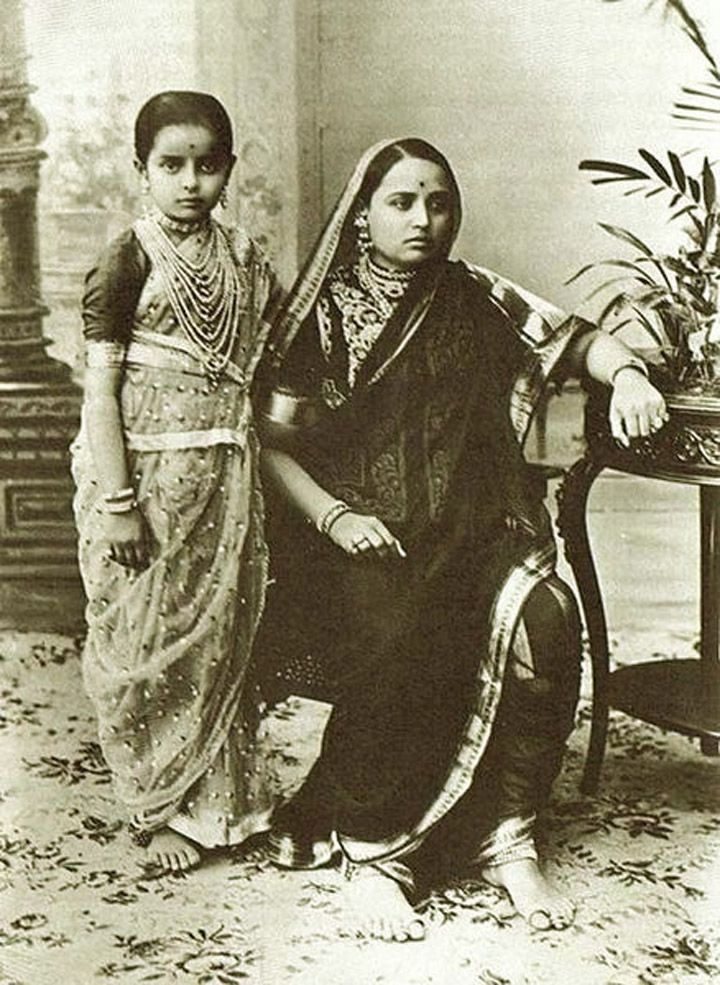 """Maharani Chimnabai of Baroda, the one who famously instructed her grand daughter Gayatri Devi to """"never wear emeralds with a green sari … they look so much better with pink."""""""