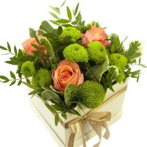 Krabička květin bílá LOTUS 12x12x11cm