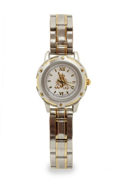 """$79.99 Wear a truly """"Distinguished"""" watch as you go about your day. Featuring a matte chrome and gold accented bezel with matching band and three-hand movement Citizen Metal Movement, the distinguished ladies watch is sure to become a staple in your everyday wear. Watch comes in a black and silver presentation box with a lifetime warranty."""