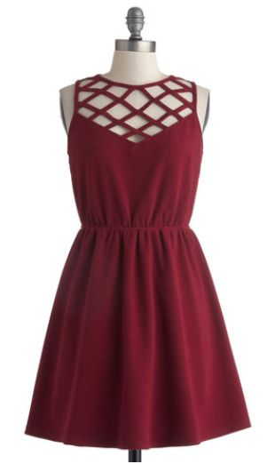 Modcloth - short burgundy bridesmaid gown