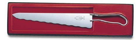 F Dick Old Fashioned Bread Knife by F. Dick. $69.99. This is a new release of the original version from 1912. The wavy edge is more advanced than those of modern times because the tips of the wavy edge cut the bread instead of tearing it. Makes an incredible giftFeaturesBlade is top quality stainless steel New release is based on the original Bauhaus style of 1912 Will cut through any type of bread, hard or soft, without tearing Blade Dimensions: 10L One Year Manufactur...