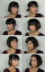 Sunny 8 ways to style your bob ... tutorial on page, I guess the video has been privatized?