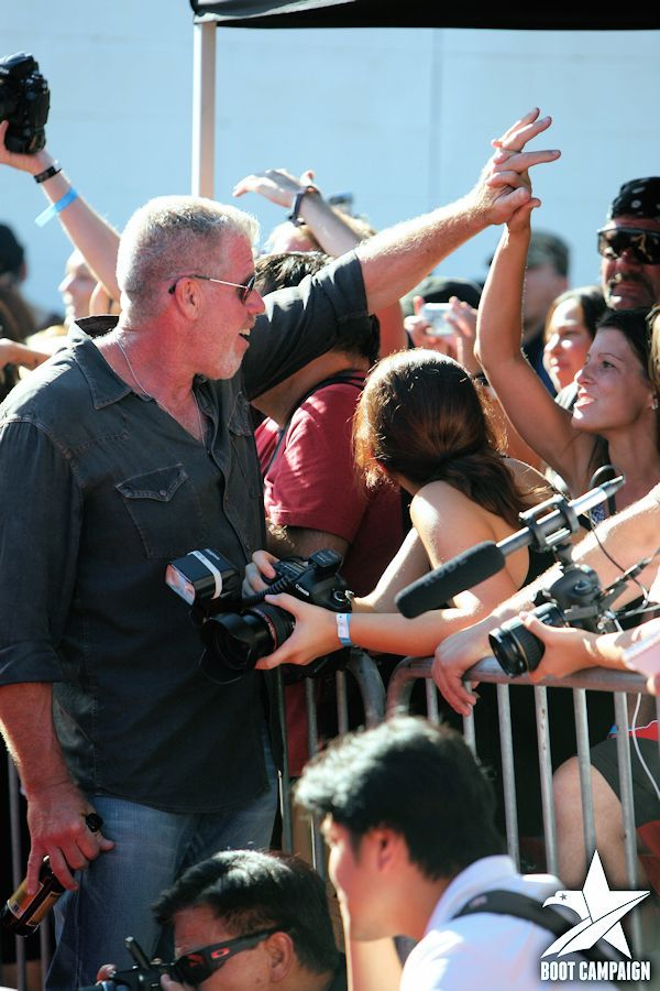 Red carpet VIP meet and greet with Ron Perlman (Clay Morrow) and the cast of Sons of Anarchy