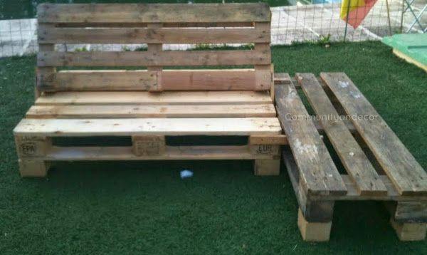 6 pasos para crear un sillón de palets 5. Fijar la chaslonge a través de otras dos tablillas, que de nuevo van fijada a la base