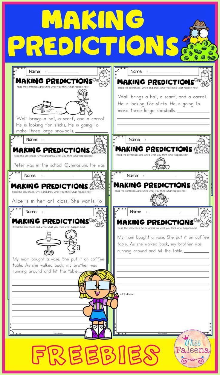 medium resolution of Free Making Predictions contains 8 pages of making prediction worksheets.  This product is suitab…   Making predictions