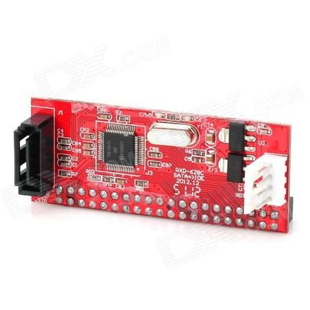 SATA/IDE HDD Converter Board - Red + Black  — 329.85 руб. —  Brand NO Quantity 1 Piece Color Red + Black Material PCB Interface IDE/SATA Features Standard Serial ATA; easy installation plug and play; transmission rate up to 1.5Gbps; Supports standard ATAPI ATA/133 ATA/100 ATA/66 ATA/33.EIDE Packing List 1 x Converter 1 x Power cable (15cm) 1 x Serial port data cable (25cm)
