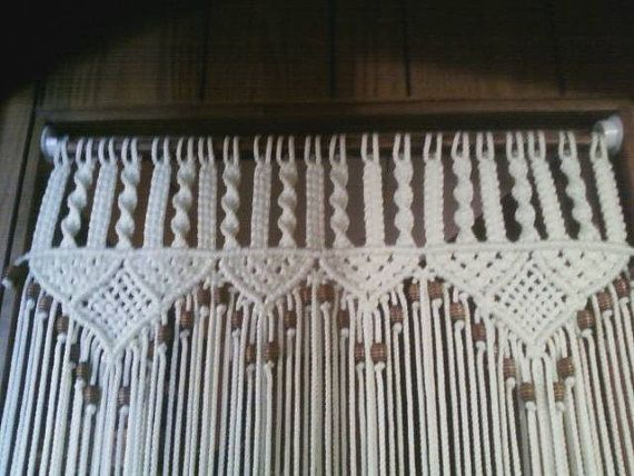 Curtain In Macrame Bead Fringed Door Curtain With Tie
