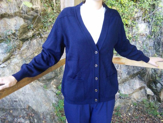 Ladies Cardigan 1970s New Unworn French by FromParisToProvence
