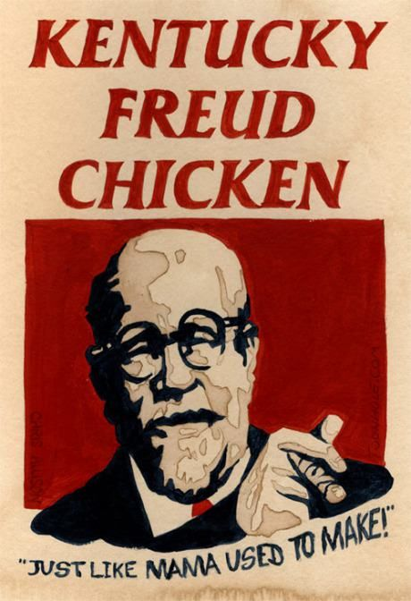 Kentucky Freud Chicken. I LAUGHED WAAAYYY HARDER THAN I SHOULD HAVE, HOLY PSYCHOLOGY