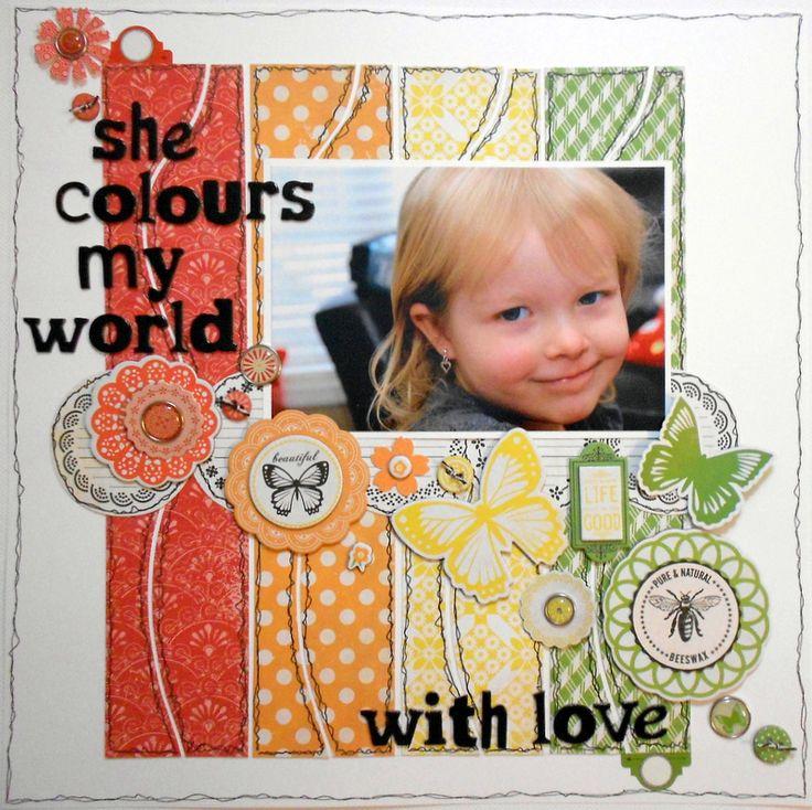 she colours my world - Scrapbook.com