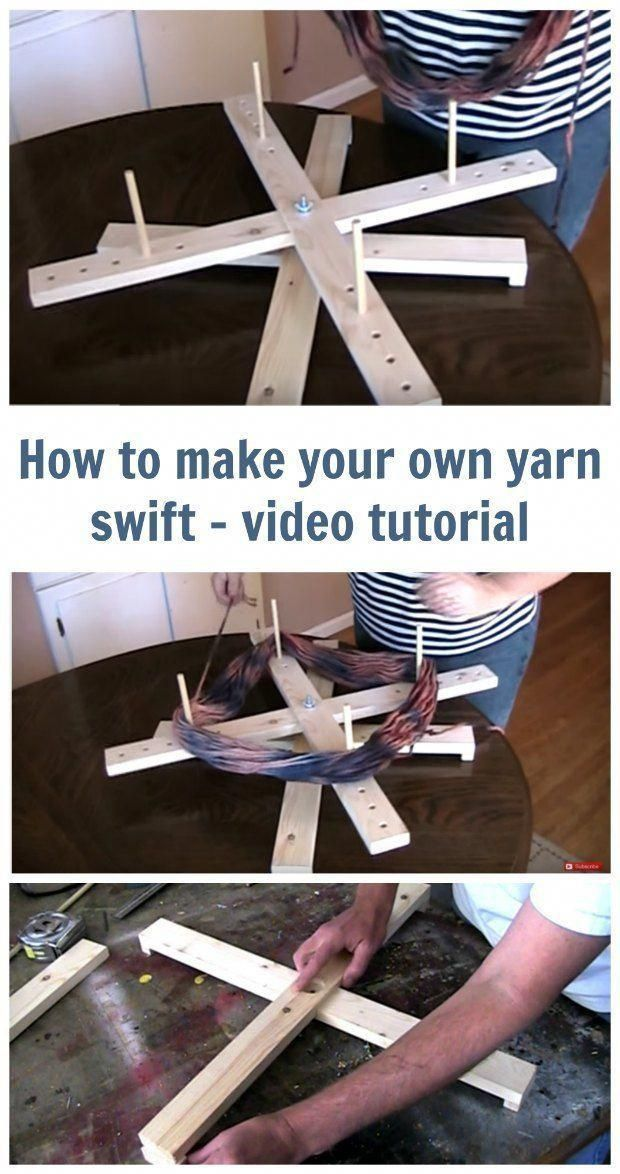 Video on how to make your own yarn swift. Amish style yarn ...
