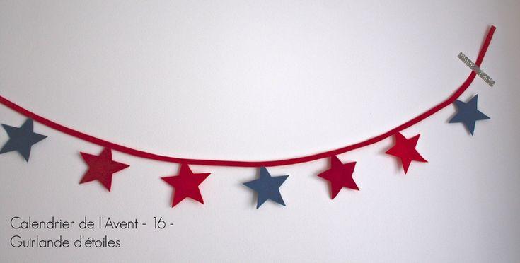 guirlande d'étoile  calendrier de l'avent créatif, une création par jour jusqu'à noel creative advent calendar one creation everyday until christmas