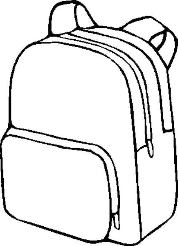 Backpack Coloring Page School Coloring Pages Back To School