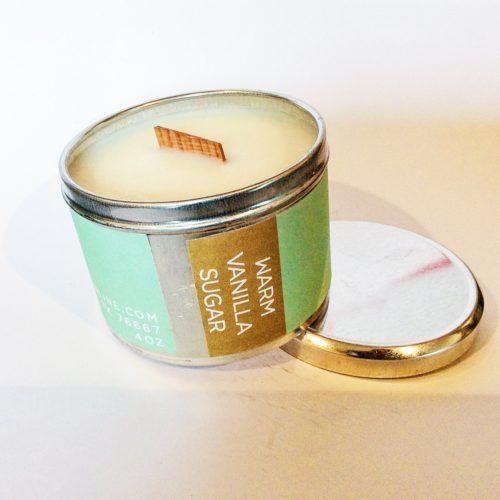 Home Fragrance   Poepa Soap - WARM VANILLA SUGAR SOY CANDLE